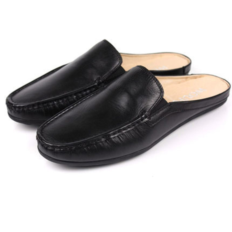 2017 New Fashion Spring /Summer Genuine Leather Men's Slip-On Casual Breathable Flats Loafers Driving Business Flat Shoes 2017 new fashion summer spring men driving shoes loafers real leather boat shoes breathable male casual flats