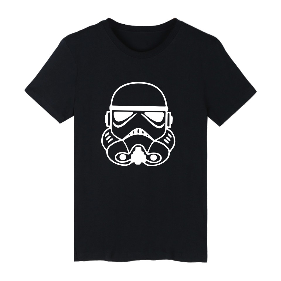 Not postage summer star wars fashion short sleeve t shirts for Black and white short sleeve shirts