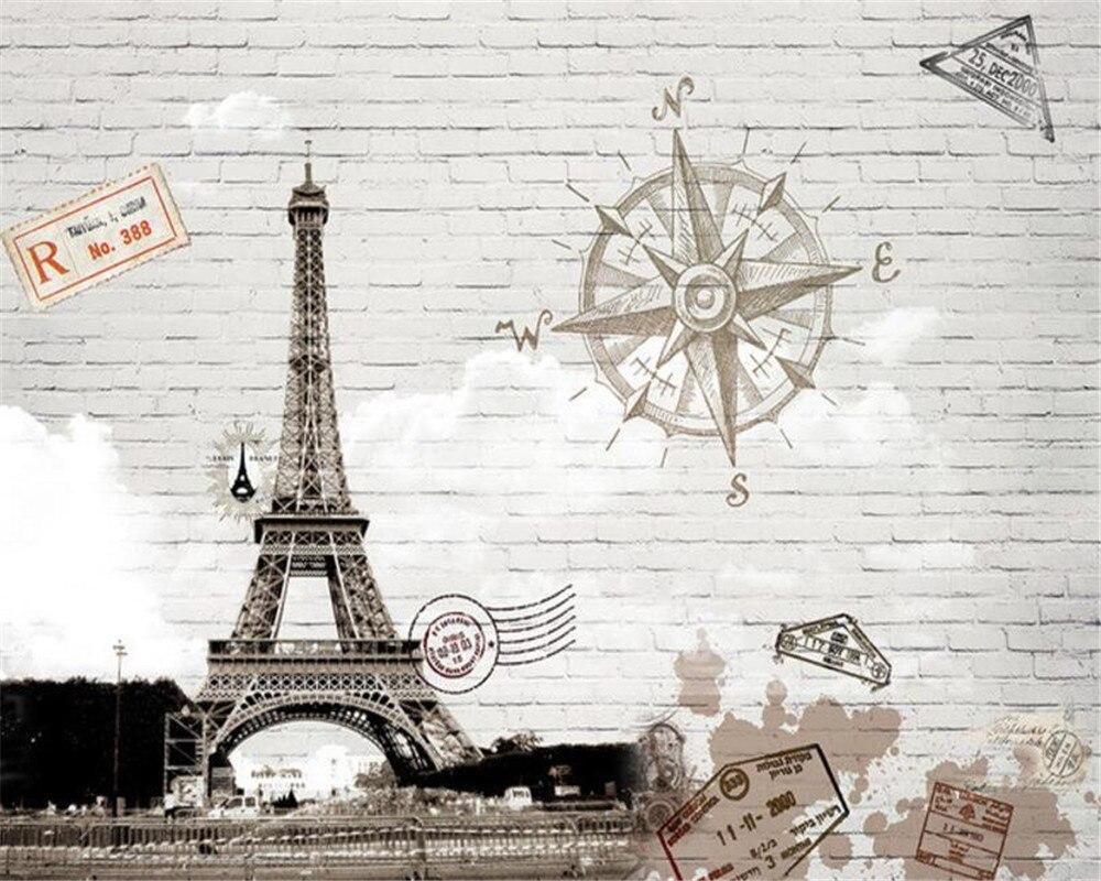 US $8 85 OFF Beibehang Customize Any Size 3D Wallpaper Abstract Hand Painted Paris Eiffel Tower TV Wall Wallpaper Papier Peint Mural 3d Papier