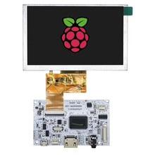 HDMI + ses LCD sürücü panosu + 5 inç LCD panel 800*480 USB 5V diy kitleri ahududu Pi için 3B 2