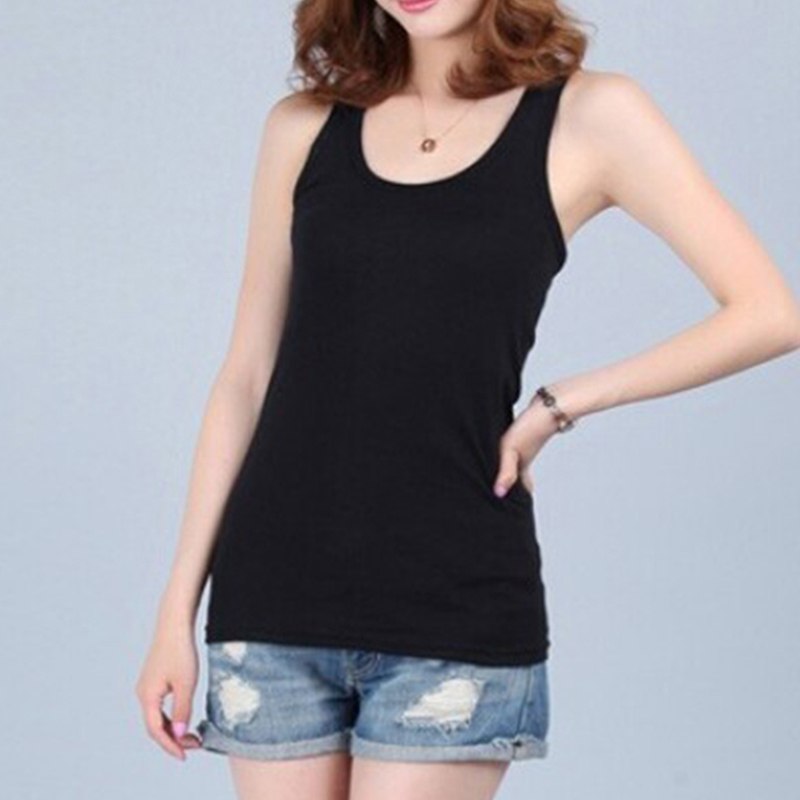 New Camis Tees For Woman Sexy   Top   White Black Multicolor Vest Solid Slim Women   tank     Tops   Summer Sleeveless Jersey Cotton   Tanks