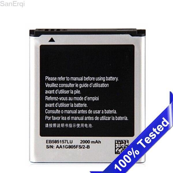 Pour Samsung Galaxy Win i8552 i8530 i8550 Batterie EB585157LU 2000 mAh Pleine Capacité Batteries SanErqi