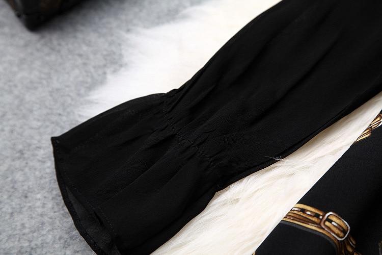 Manches Lâche Party Beach Femmes Imprimer Flare Noir Mini Nouvelles 2019 Une Robe Ligne Printemps HgdFqFw