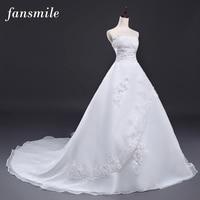 Fansmile Giá Rẻ Vintage Belt Dài Train Wedding Dresses 2017 Robe de Mariee Sirene Vestidos Cộng Với Kích Thước Bridal Dress Miễn Phí Vận Chuyển