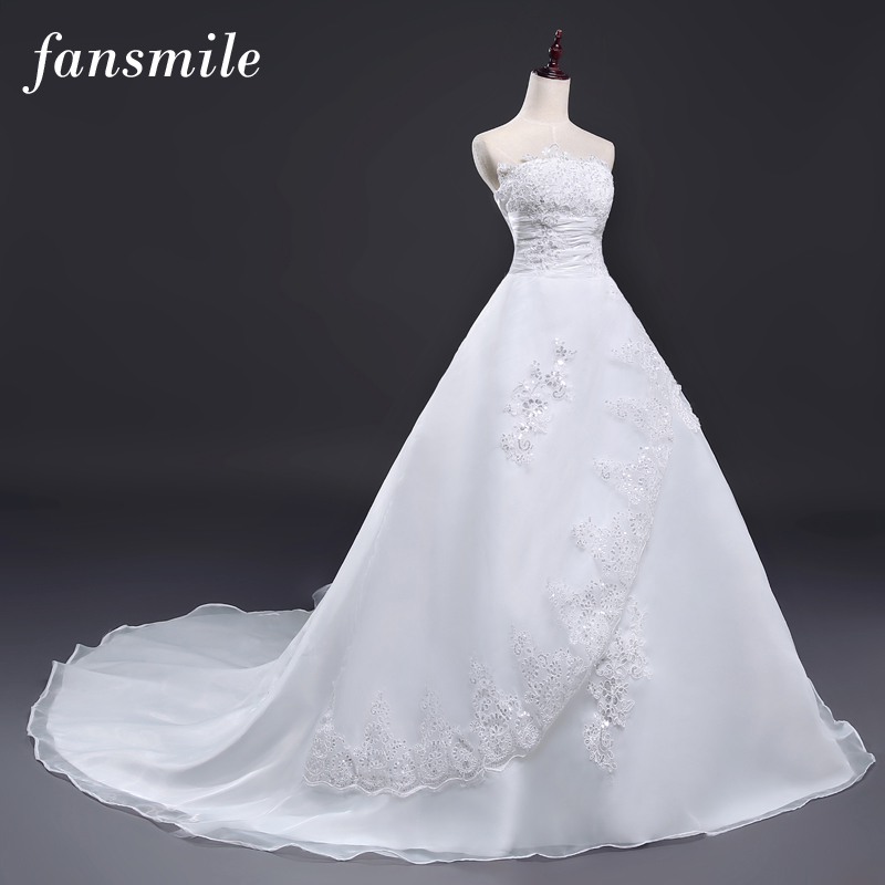 fansmile robes de mari e 2017 vintage ceinture long train