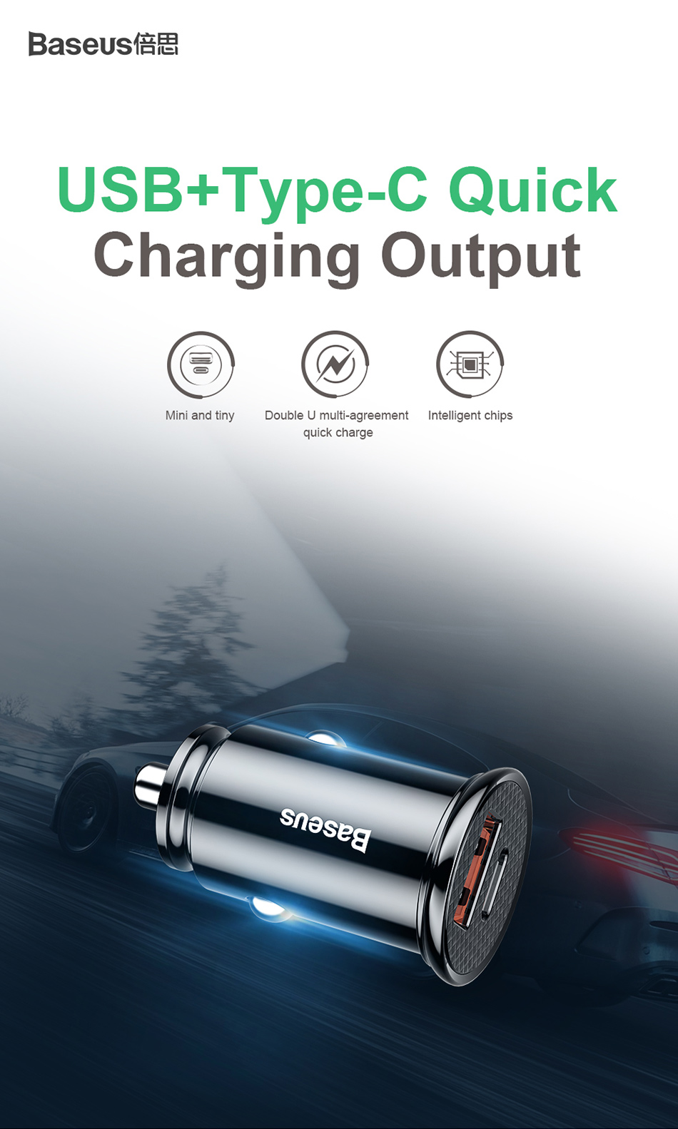 Baseus Quick Charge 4.0 3.0 USB Car Charger For Xiaomi mi 9 Huawei P30 Pro QC4.0 QC3.0 QC 5A Fast PD Car Charging Phone Charger-in Car Chargers from Cellphones & Telecommunications on Aliexpress.com | Alibaba Group 1