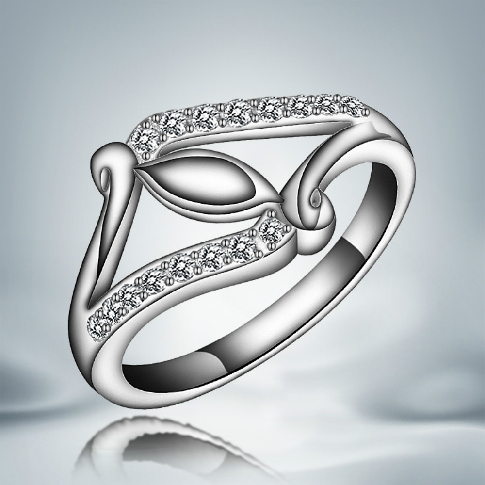 Pr106 Rings 925 Sterling Silver Fashion Style Girl Lady Women