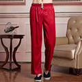 New Arrival Chinese Men Satin Tai Chi Pants Kung Fu Trousers Elastic Waist Pants Size M To XXXL