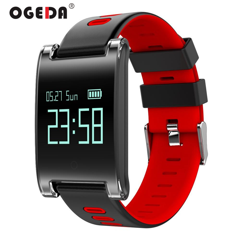 OGEDA Smart Women Watch Blood Pressure Heart Rate Monitor Bluetooth Fitness Bracelet Call Reminder Activity Tracker DM68 ogeda women smart watch blood pressure blood oxygen heart rate monitor smart fitness bracelet activity tracker support running