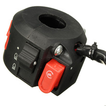 Left Start Kill ON-OFF Switch For Chinese ATV Quad With 22mm Handlebar 8-Wires