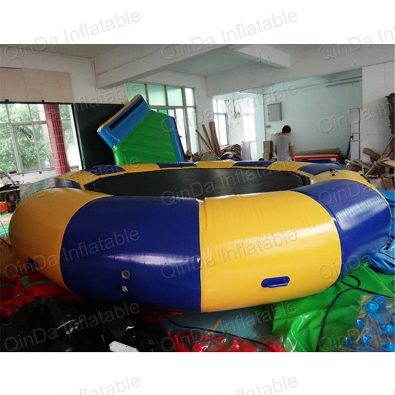 5 m trampolin hovuz üzən oyuncaq su şişmə trampolinlər şişmə - Açıq havada əyləncə və idman - Fotoqrafiya 3