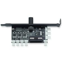 ФОТО  fan speed controller for cpu case hdd vga pwm fan pci bracket power by 12v 3pin/4pin fan hub 8 channels pc cooler cooling fan