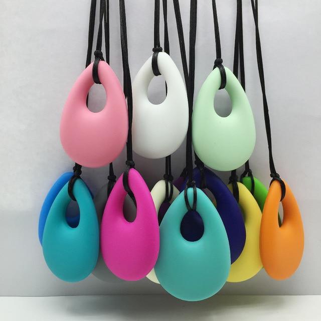 Hot! 20 Stks/partij Tandjes Ketting Sieraden Verpleging Hanger Biologische Bpa Gratis Silicone Bijtring Hanger Speelgoed Voor Verpleging Moeders