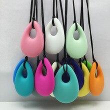 Sıcak!!! 20 adet/grup diş çıkarma kolye takı hemşirelik kolye organik BPA ücretsiz silikon diş kaşıyıcı kolye oyuncaklar hemşirelik anneler için