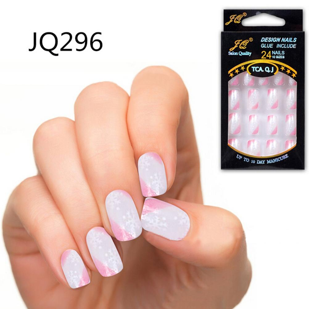24Pcs/1Set New Fashion Design Nail Tips Natural Healthy looking ...