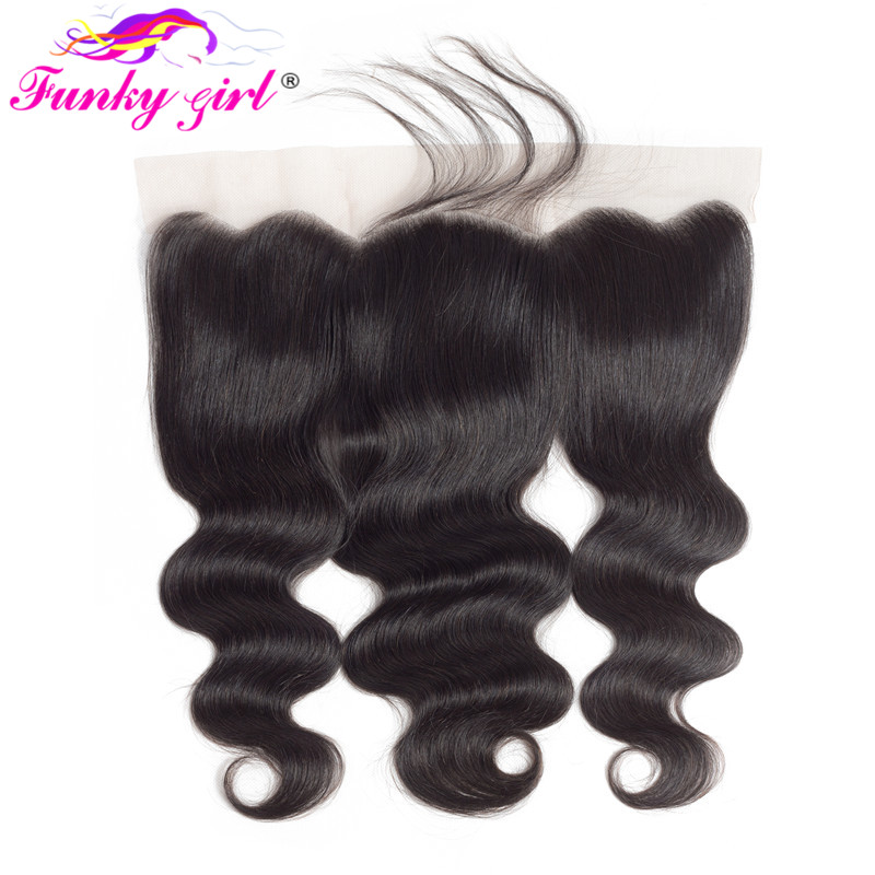 Забавная девчонка перуанские волнистые волосы на шнуровке Фронтальная застежка с детскими волосами 13x4 швейцарские кружева 130% человечески...