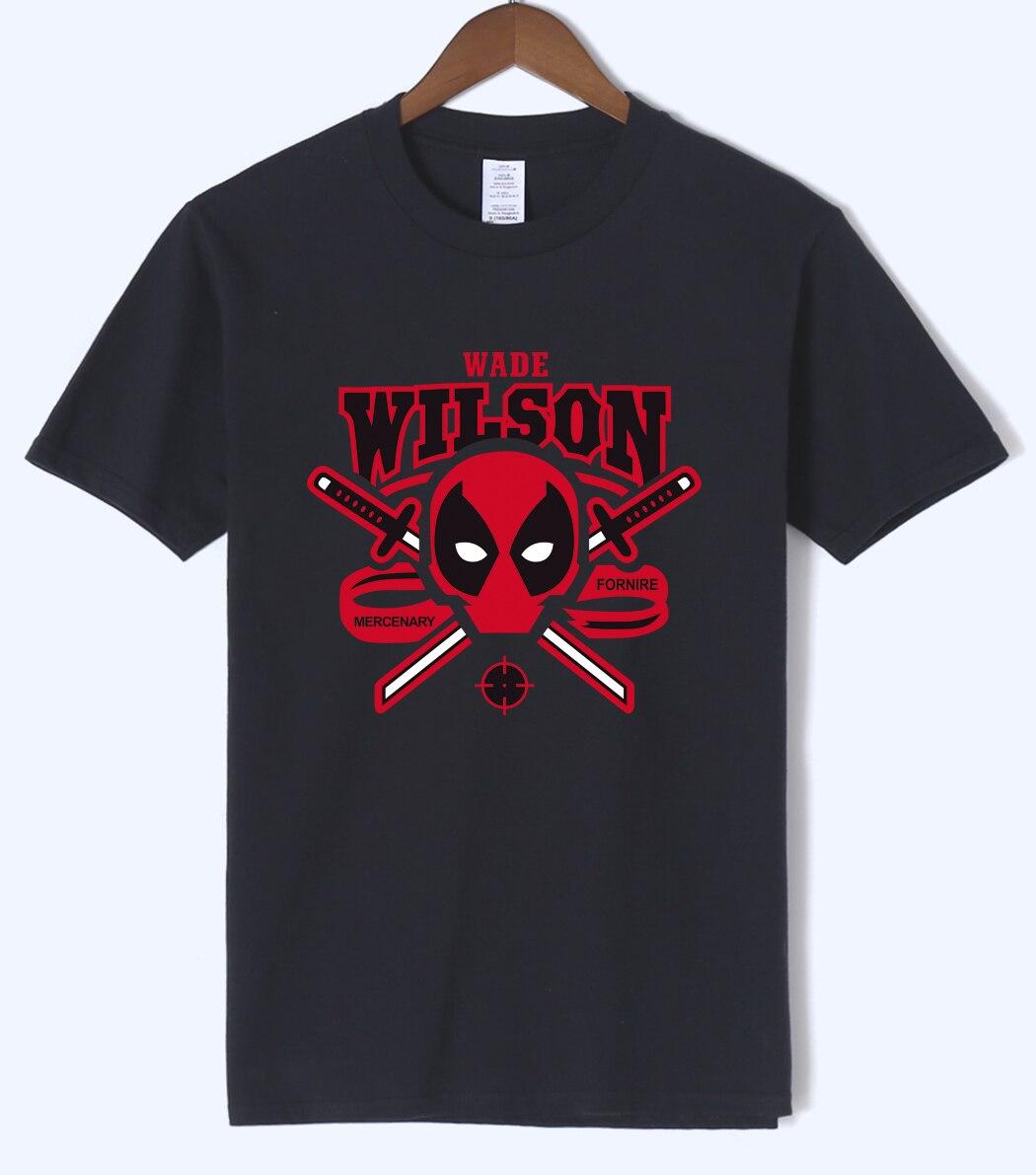 New Arrival Deadpool Wade Wilson T Shirts 2019 Summer Men Short Sleeve Shirts 100% Cotton Male T-Shirts Hip Hop Brand-Clothing