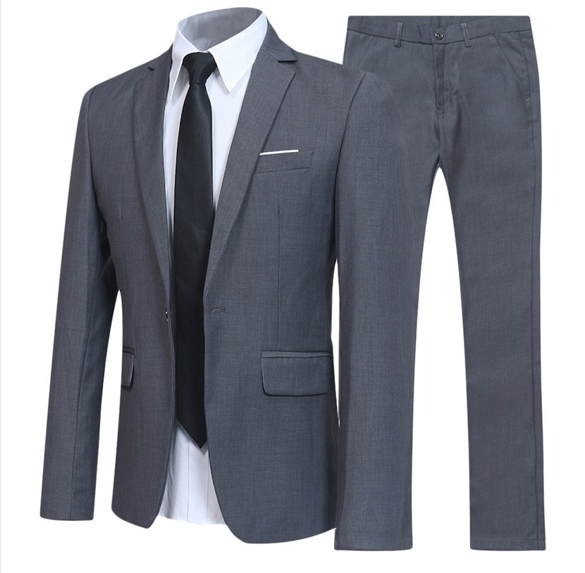 2018 Newtop Fashion Mens Suit Gentlemen Business Casual Korean Style Western-style Youth Male Formal Homme Black/Grey L-2XL