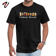 Crew Neck Celebrate Diversity Beer Logo Streetwear Male T-Shirt Casual Short Gamer Tops Shirt Rife Custom Popular