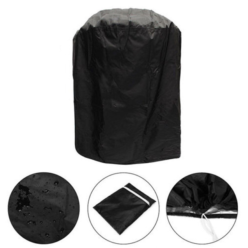 Waterproof Round BBQ Grill Cover Dustproof Garden Patio Yard Barbecue Protector Mat 70x70cm small grill cover