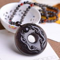 A pure natural ice Obsidian pendant double brave lucky evil transport buckle new paragraph domineering
