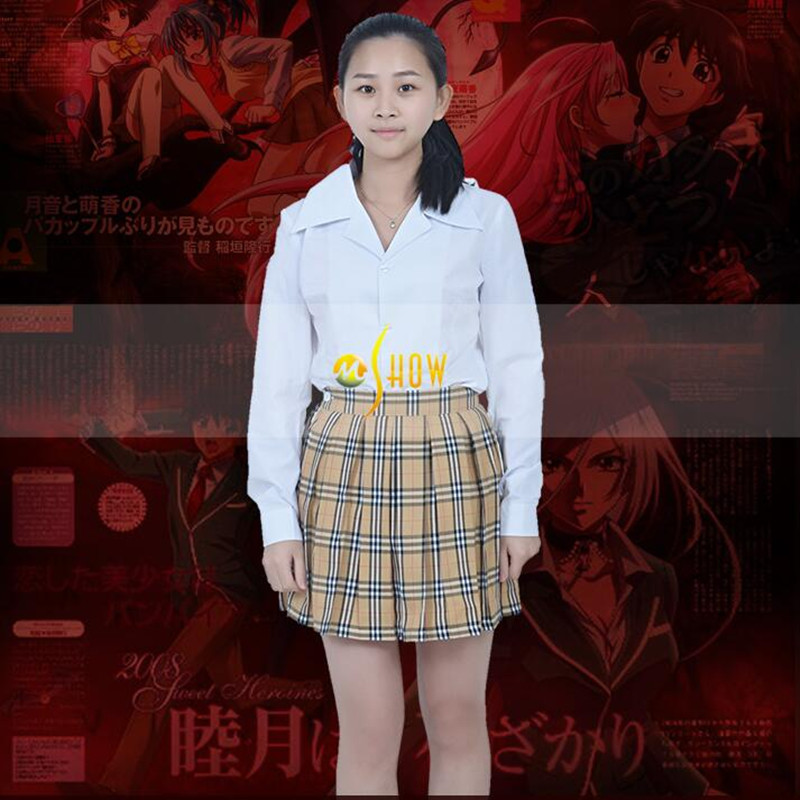 Hot Sale Cos Apparel Moka Akashiya Yokai Academy Cosplay Costume Girls School Uniform Skirt Customized Size Costume