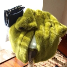New Loose Long Furry Faux Fur Thick Coat