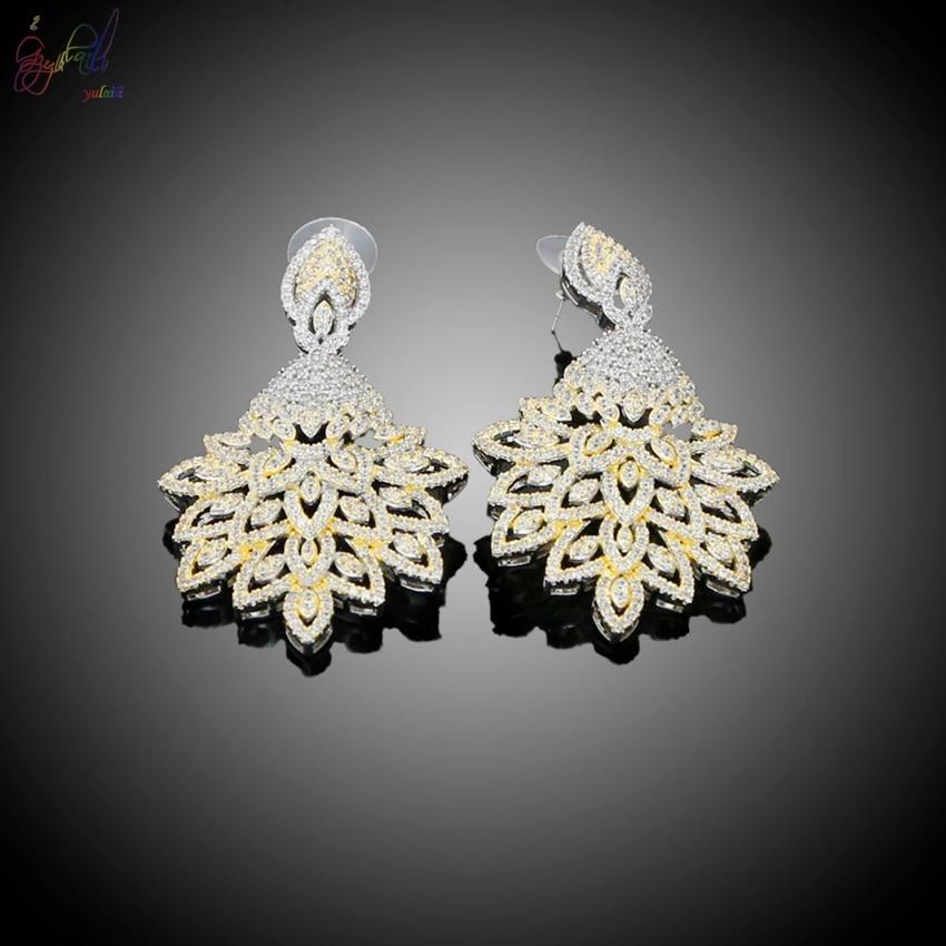 Yulaili nouveau européen américain femmes mode bijoux pendentif cristal collier Bracelet anneau boucles d'oreilles ensembles de bijoux - 4