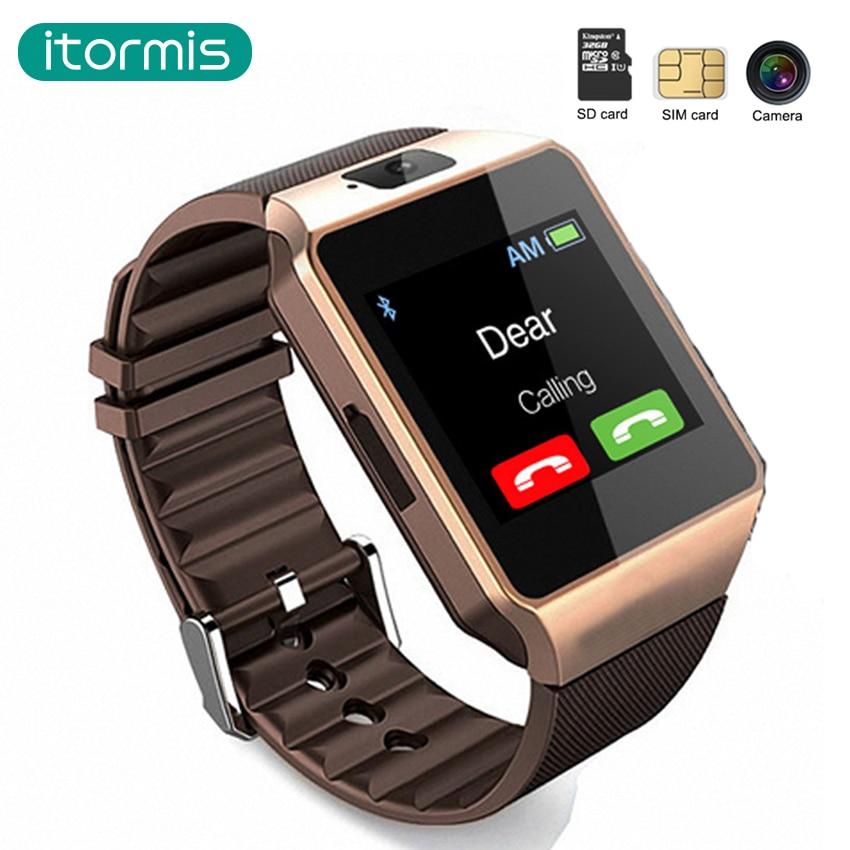 Galleria fotografica Itormis Bluetooth Astuto Della Vigilanza Del Telefono <font><b>Smartwatch</b></font> Pedometro Touch Screen Fotocamera TF SIM Card per Android iOS Smartphone PK A1 GT08