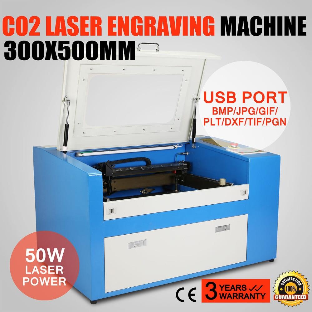 CO2 лазерный гравировальный станок Бесплатная доставка 50 Вт 3D Co2 лазерный гравер машина 30*50 см