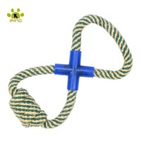 Pet Supplier Linen Cotton Rope Dog Toys For Large Dogs With Plastic Training Interactive Chewing Toys