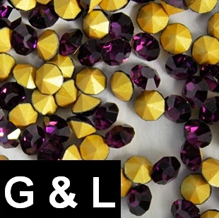 Ss11.5-ss25 Amethyst Color Pointback Rhinestones Glass Material Beads Used For Jewelry Nail Art Decoration ss11 5 ss25 siam color pointback rhinestones glass material beads used for jewelry nail art decoration