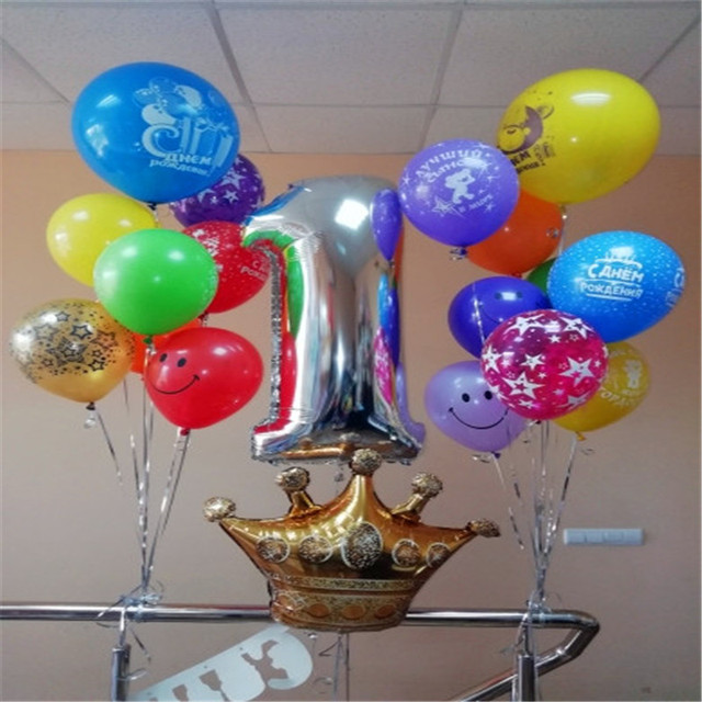 Prince Christmas Decorations.Us 1 5 30 Off Aliexpress Com Buy Gold Princess Prince Crown Foil Balloons Babyshower Girl Boy Party Favors Christmas Decorations For Home Baloon