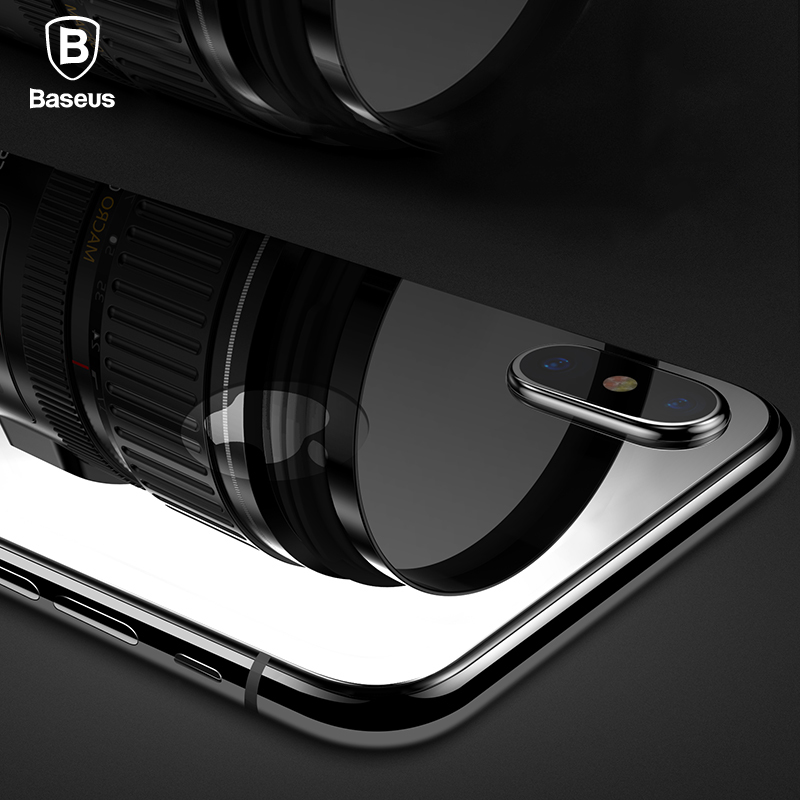Baseus 0.3mm Back Screen Protector For iPhone X 9H Back Tempered Glass For iPhone X Ultra Thin Protective Glass Film Back Cover