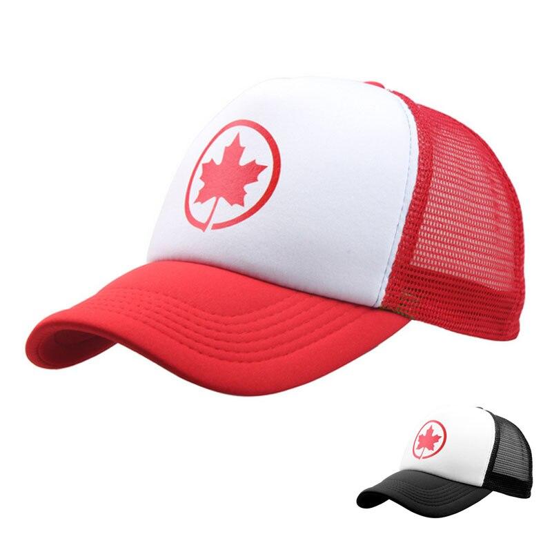 Prix pour Canada Casquette De Camionneur, feuille caps chapeau canada casquettes de baseball rouge noir d'été doux Papa chapeau pour homme