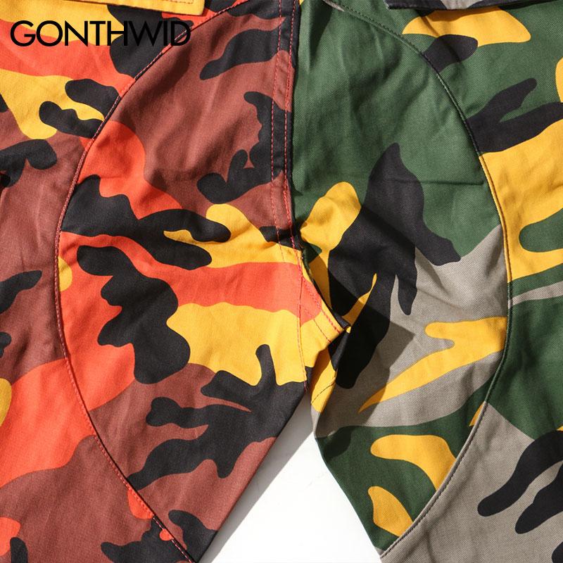 2019 Deux Tone Camo Pantalon Hommes Hip Hop Patchwork Camouflage Militaire Pantalon Cargo Hommes Occasionnels Coton Multi Poches Pantalon streetwear - 6