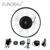 EUNORAU 48V1000W 26''27.5'' 28'' rear wheel hub motor electric bike kit cheap Ebike Conversion Kit free shipping