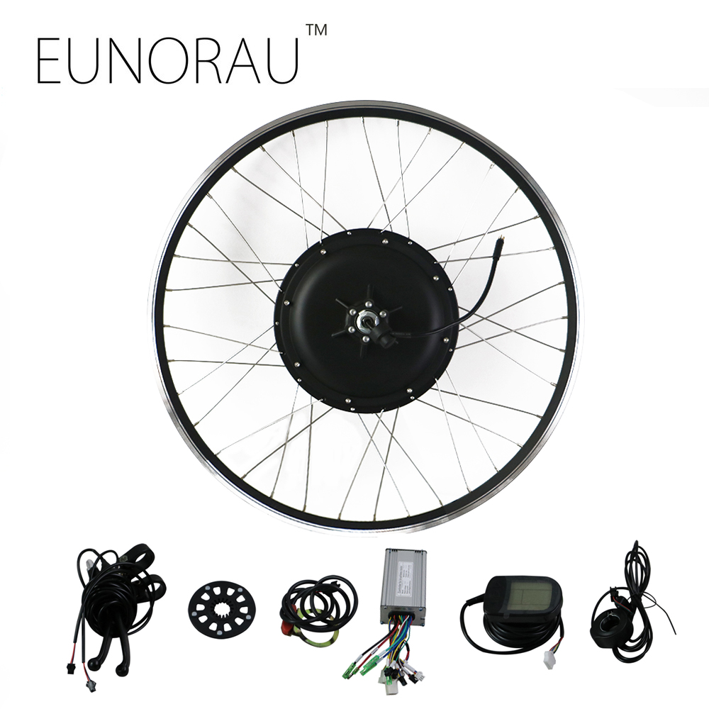 где купить EUNORAU 48V1000W 26''27.5'' 28'' rear wheel hub motor electric bike kit cheap Ebike Conversion Kit free shipping дешево