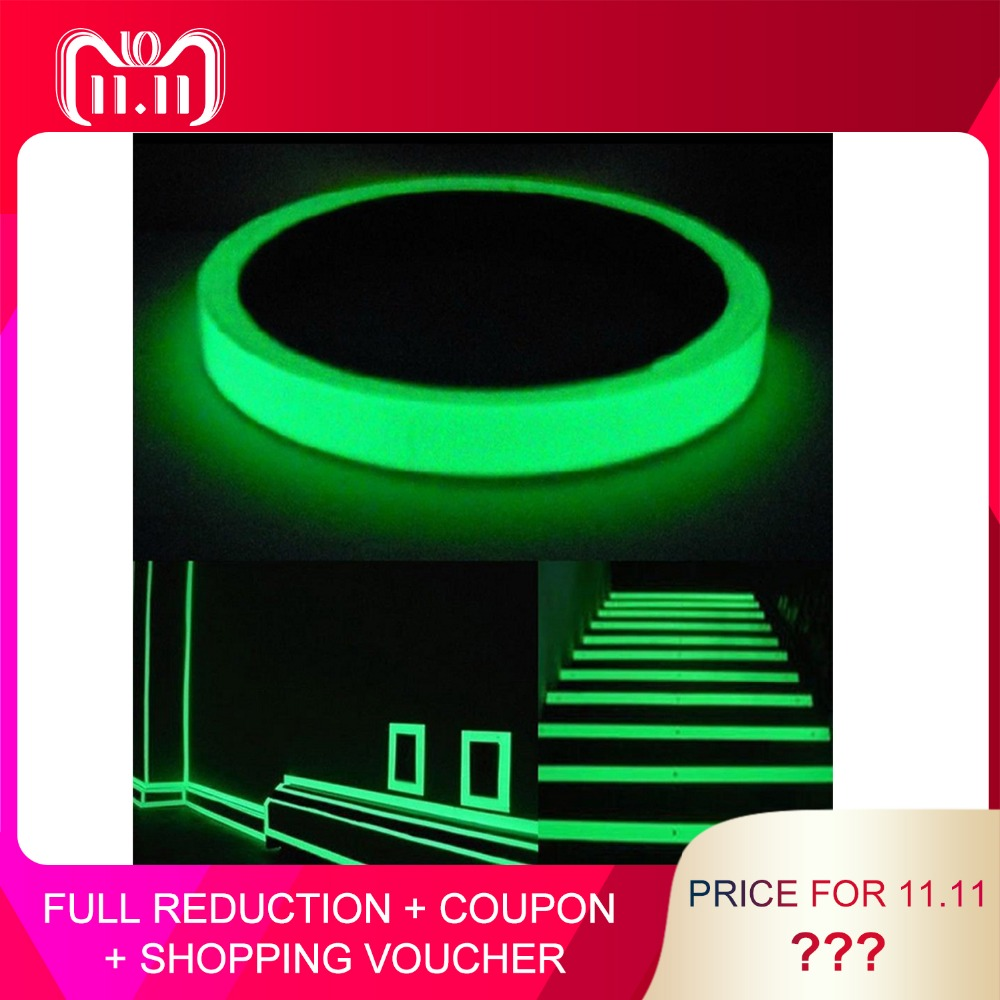 3M *15mm Reflective Tape Glow In The Dark Tape Self-adhesive Night Vision Luminous Tapes Warning Tape Stickers For Decoration multi color 1 roll 20m marking tape 100mm adhesive tape warning marker pvc tape