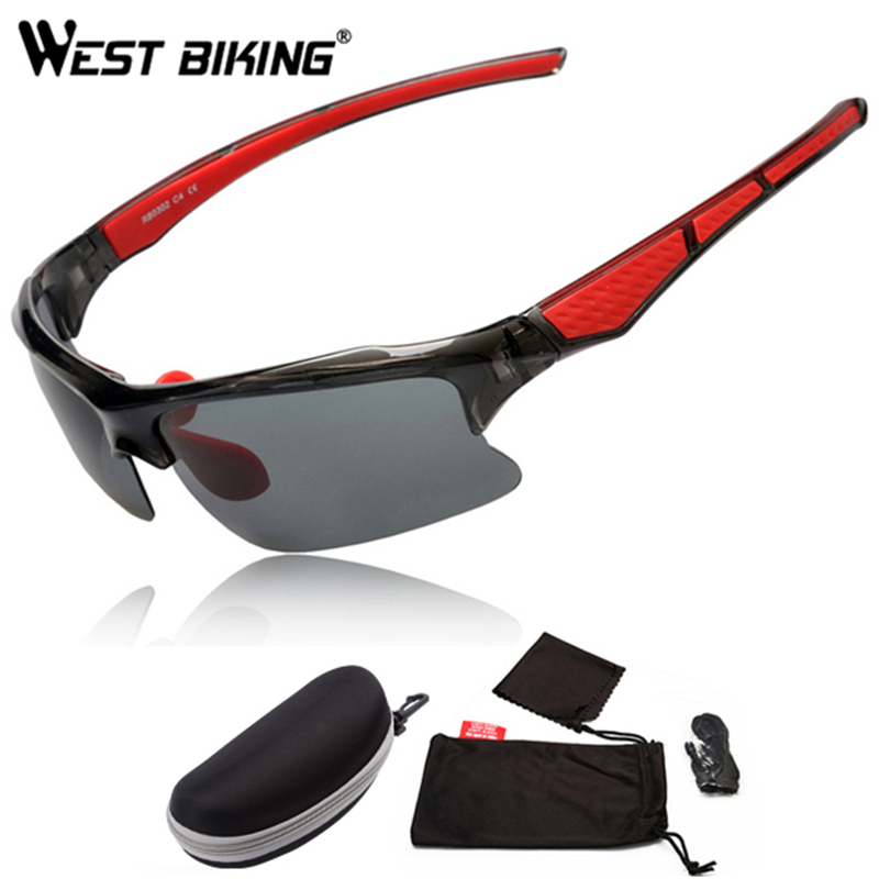 WEST BIKING Sports Skiing Glasses Bicycle Goggles Glasses Frame Myopia Riding Equipment Package Sports Windproof Cycling Glasses