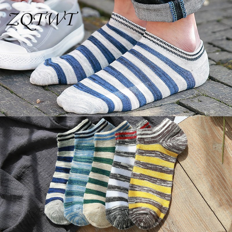 ZQTWT 5Pair/Lot High Quality Striped Socks Men Unisex Women Socks Casual Cotton Funny Animals Socks for Female 3WZ049