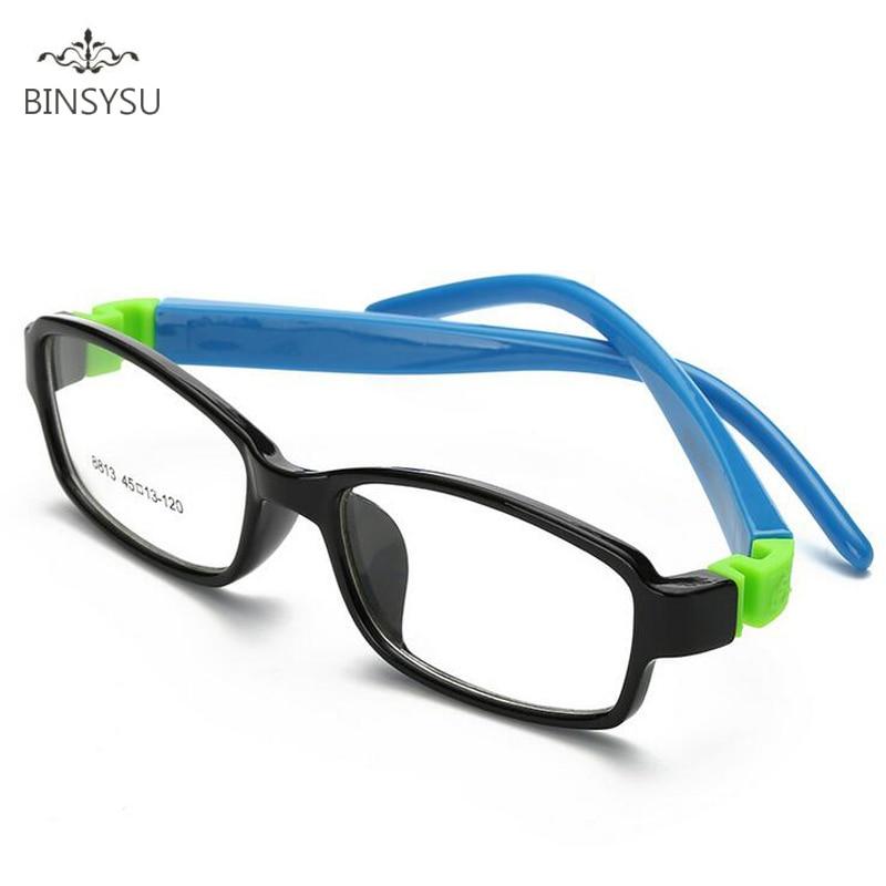 Kid Glasses Rubber Eyeglasses Kids Frames Optical Eyewear for Children No Screw Safe TR Food Grade Myopia Lense 8813
