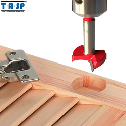 TASP Wood Forstner Drill Bit Hole Saw Cutter Drilling Set Tungsten Carbide Cutting Edges Size 20 ~ 50mm Woodworking Tools