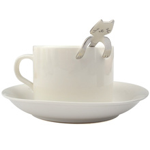 Stainless Steel Cat Coffee & Tea Spoon