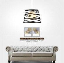 Noir/Blanc Creative Pendentif Lumière AC220V/110 V E27 Métal Moderne Led Lampe Pendentif Lumière Lampe Dia32X24cm Suspendus lampes Pour Chambre