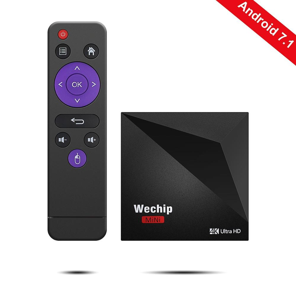 2018 Wechip V6 Android 7.1 OS Android TV Box RK3328 Quad-Core 64Bits 1GB/8GB Smart TV Box WiFi H.265 4K Media Player OTT Box new style a5x plus 8 second boot android 7 1 tv box rk3328 quad core 1gb 8gb smart mini media player 2 4g wifi 4k