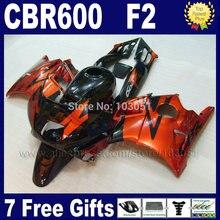 Настройка обтекатели комплект для Honda CBR600 F2 1991 1992 1993 1994 CBR 600 F2 92 93 CBR600 F 91 94 черный коричневый обтекатель