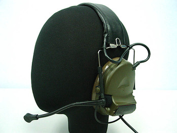 Airsoft headset headphone Tactical Headset OD for ICOM Kenwood Moto rola PTT 2 Pin Radio