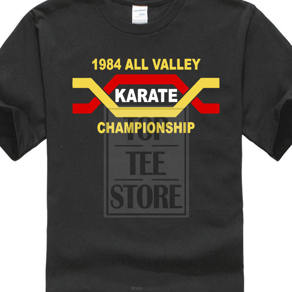 The Karate Kid All Valley Karate Championships Retro Movie T Shirt Young Man New Short Sleeve Casual T-shirt Tee image