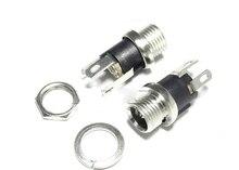 50PCS/Lot DC-025M DC025M Power DC Socket/Jack connector With Nut DC5.5*2.1 5.5*2.1MM